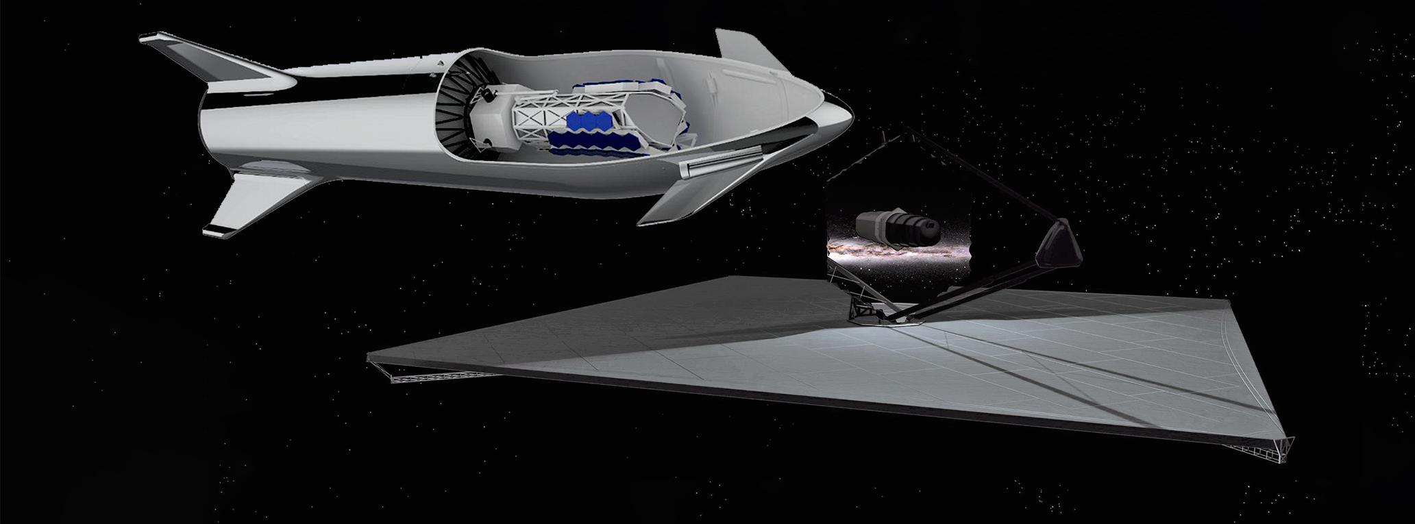 Starship NASA LUVOIR A and B space telescopes (SpaceX – NASA) 2