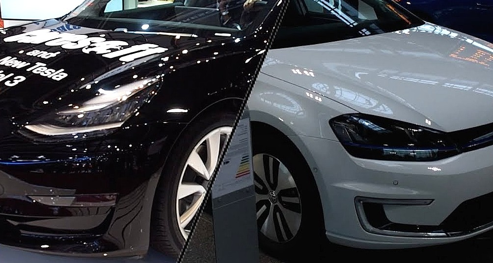 Tesla Rival Volkswagen Takes Stand Against Fud On Electric Cars Carbon Footprint