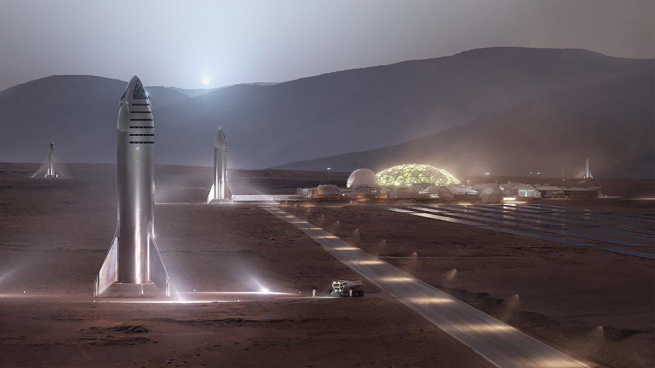 steel Starship Mars render (SpaceX) 1