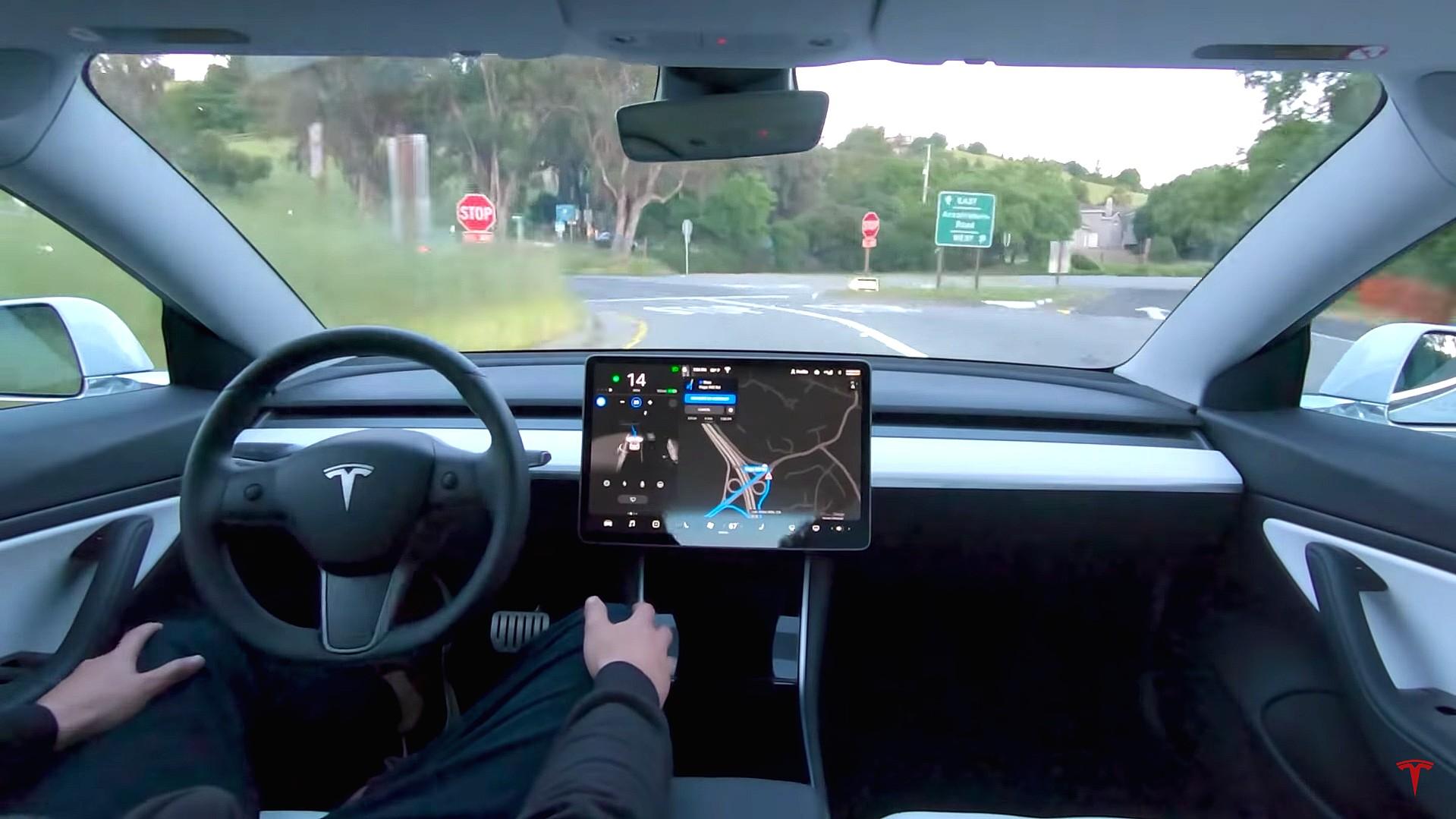 Tesla self drive