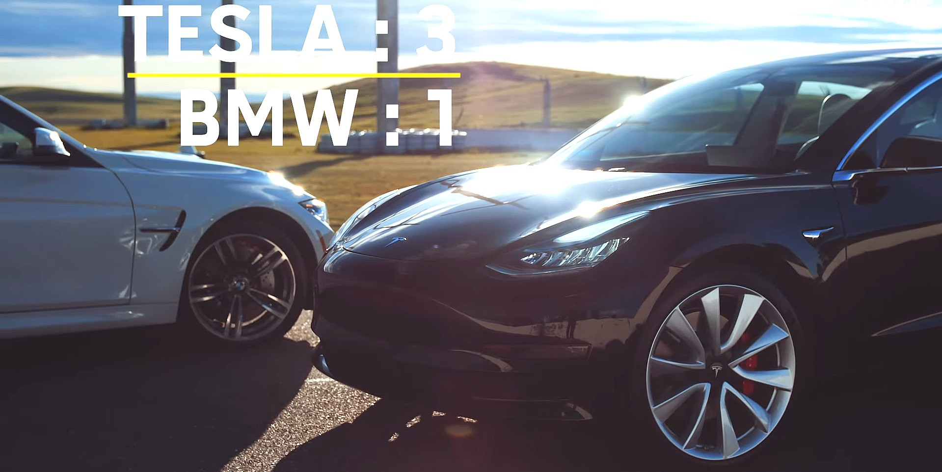 Watch Tesla S Model 3 Spank The Bmw M3 In Head To Head