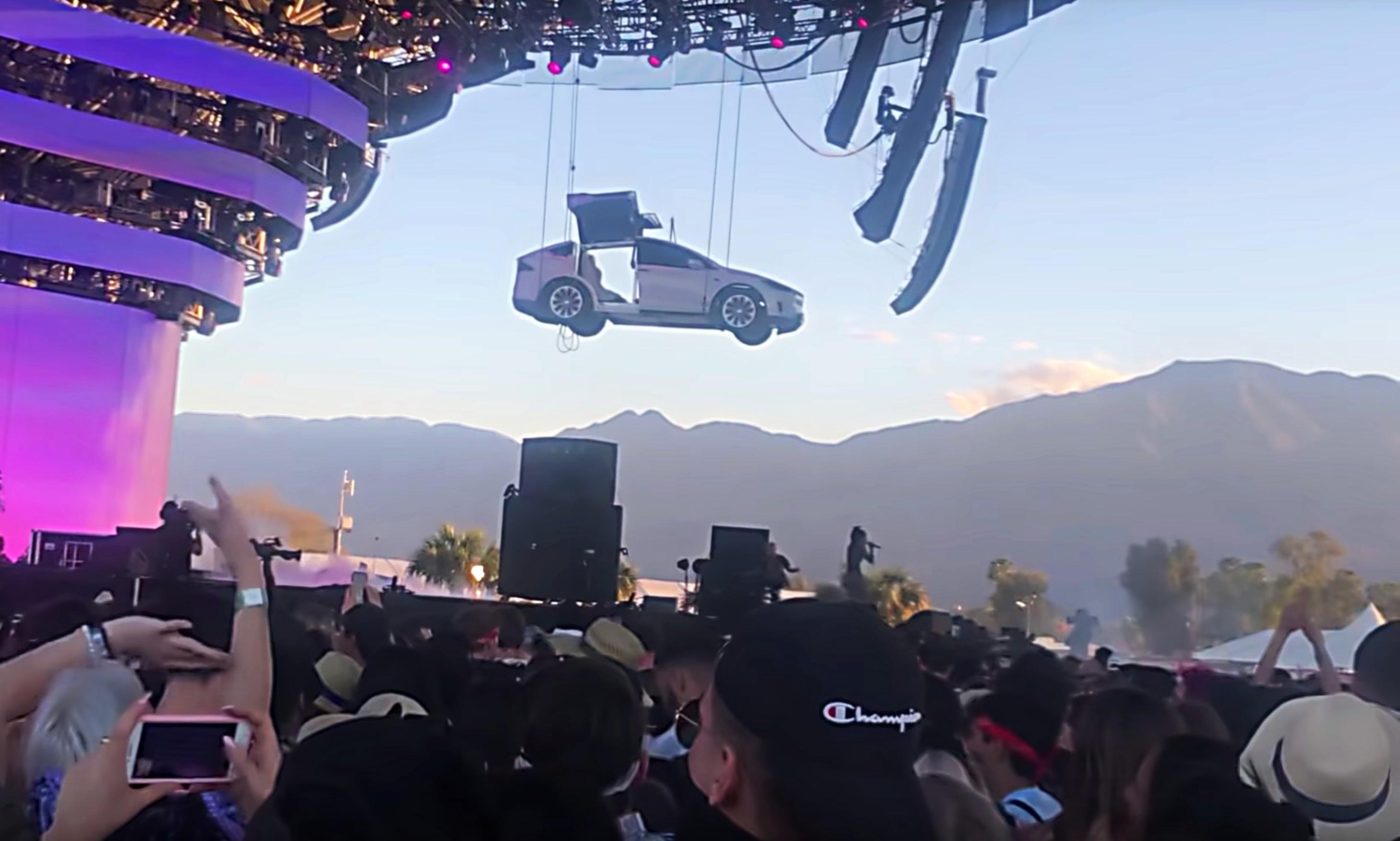 Tesla Model X Steals The Show At Jaden Smith S Coachella