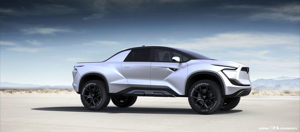 Tesla Pickup render brings Elon Musk's cyberpunk 'Blade ...