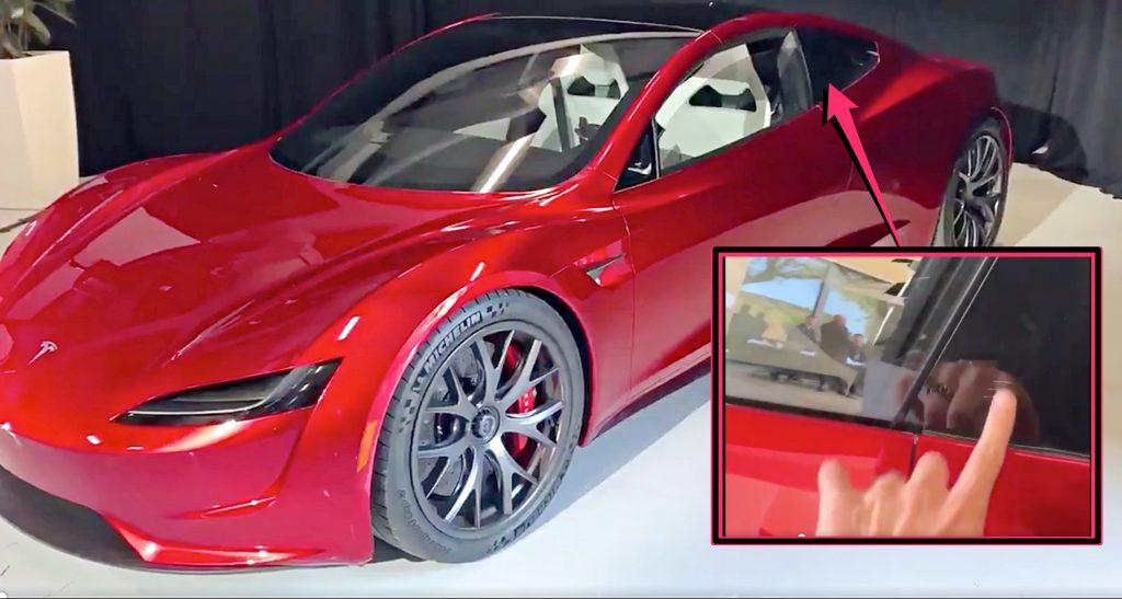 Tesla S Next Gen Roadster Seen Using A Finger Swipe