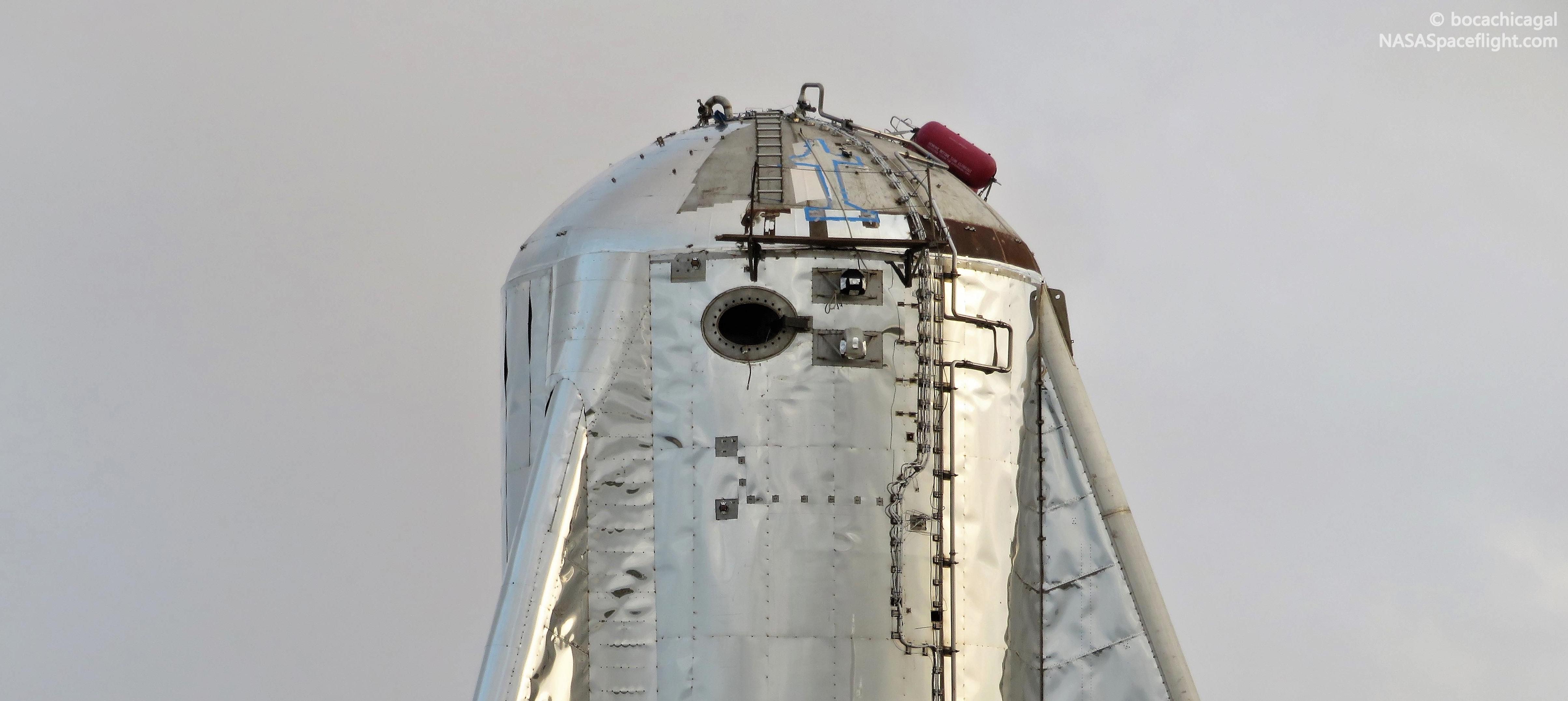 Boca Chica Starhopper ACS install 050719 (NASASpaceflight – bocachicagal) 6 crop