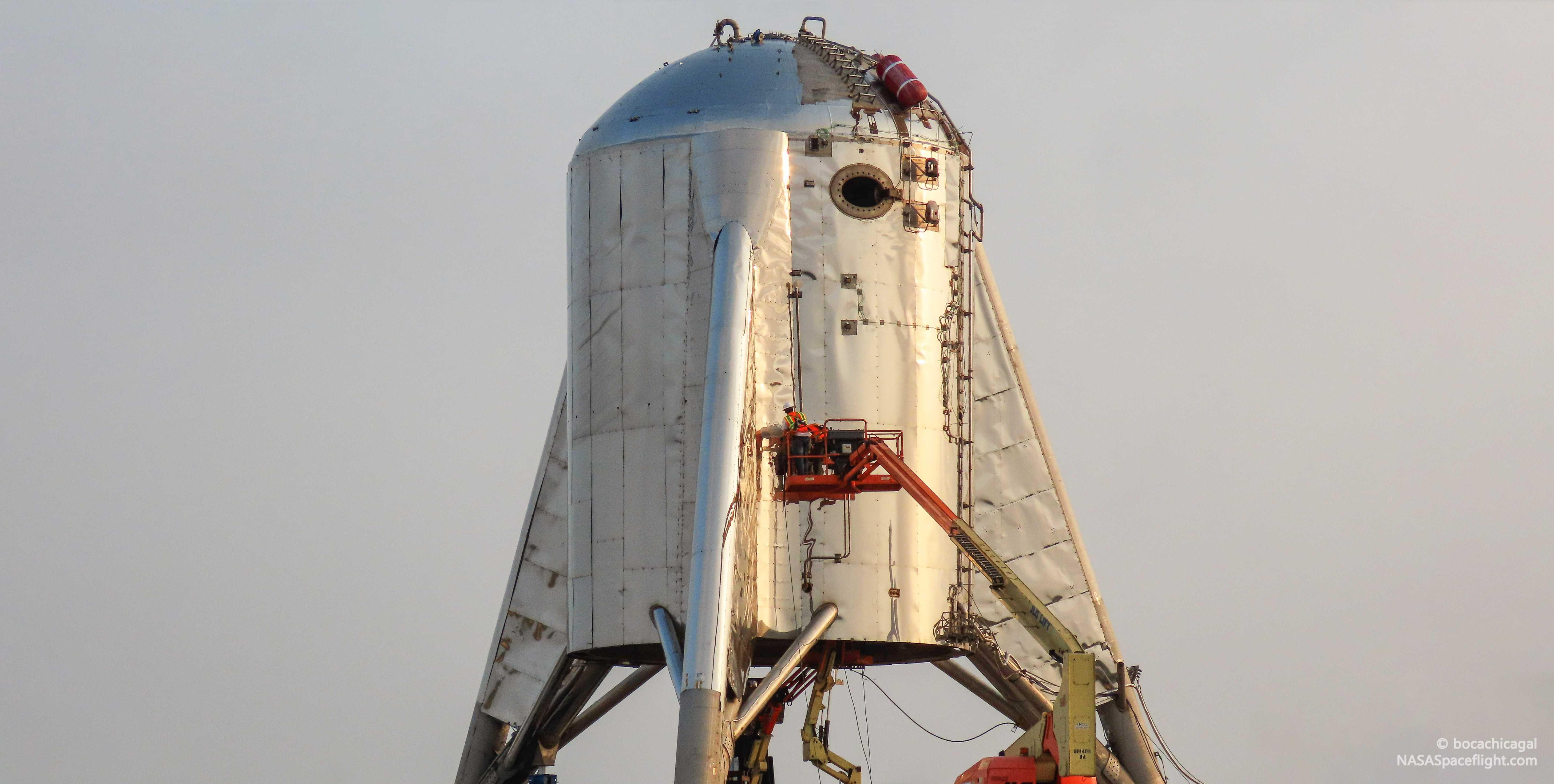 Boca Chica Starhopper & pad progress 051919 (NASASpaceflight – bocachicagal) 10 edit (c)