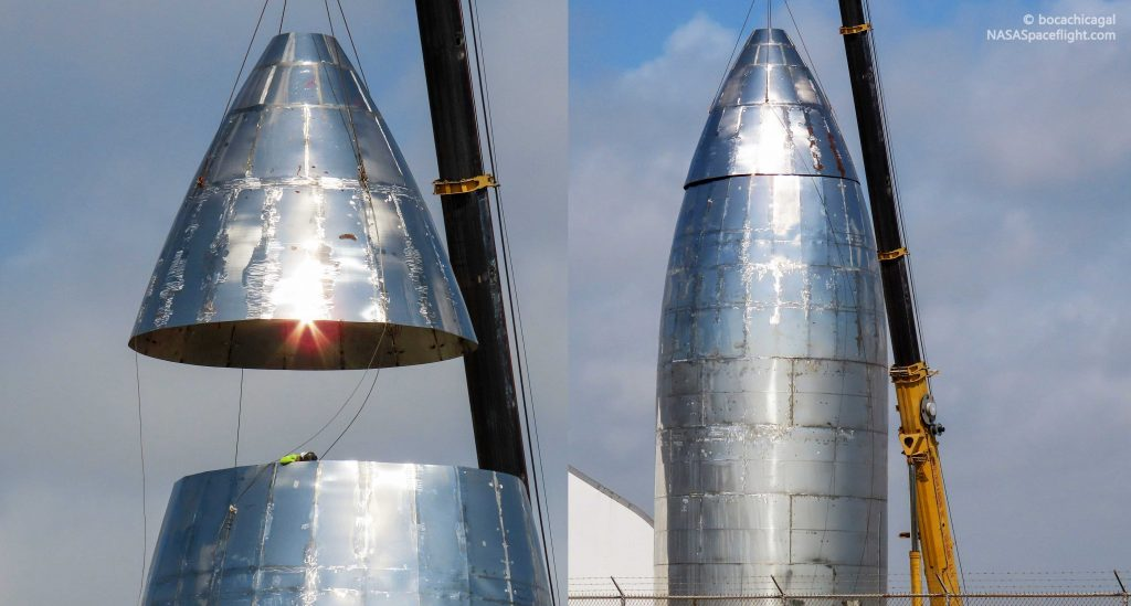 Spacex S Orbital Starship Gains A Nose As East Coast