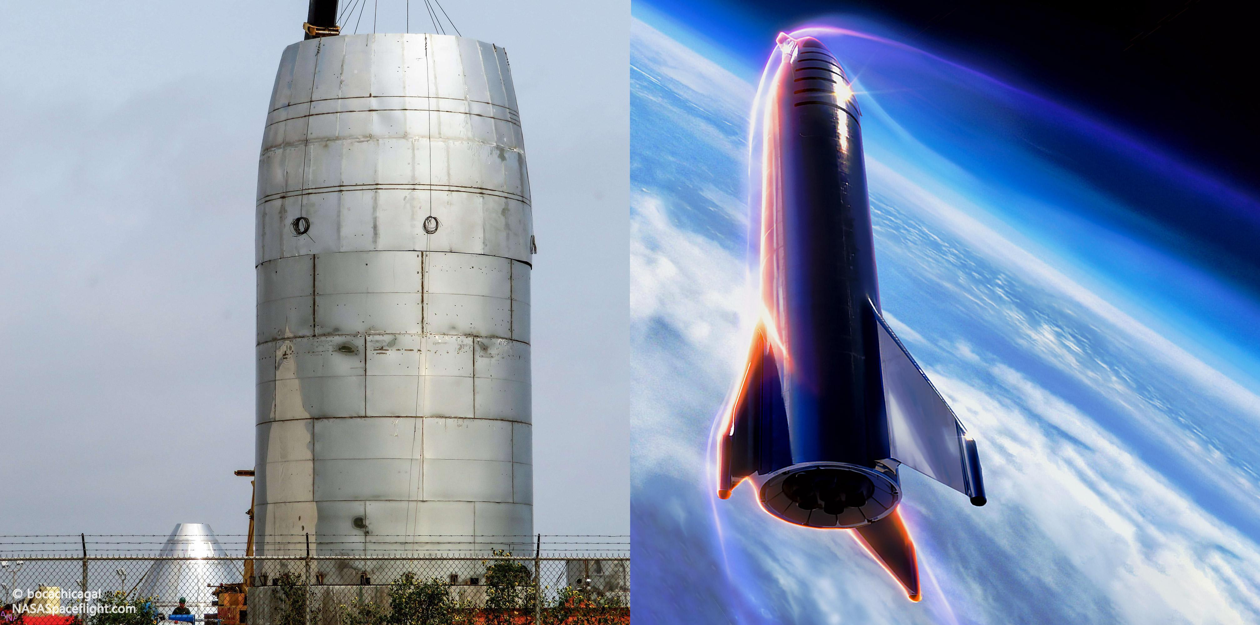 Boca Chica orbital Starship progress 050919 (NASASpaceflight – bocachicagal) render feature 1(c)