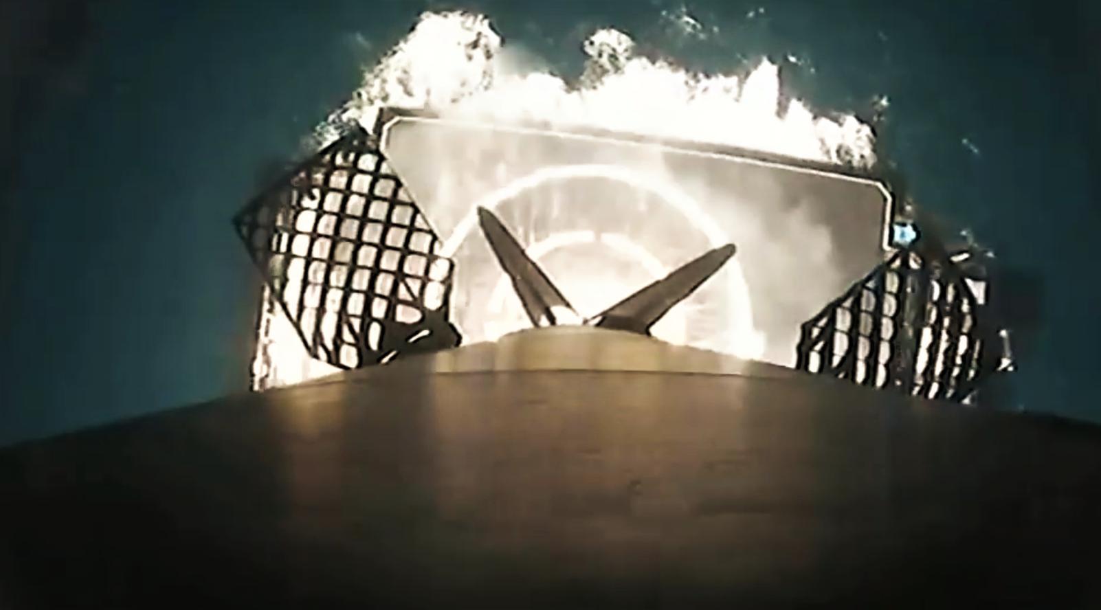 Falcon 9 B1056 infrared landing (SpaceX) 7 edit
