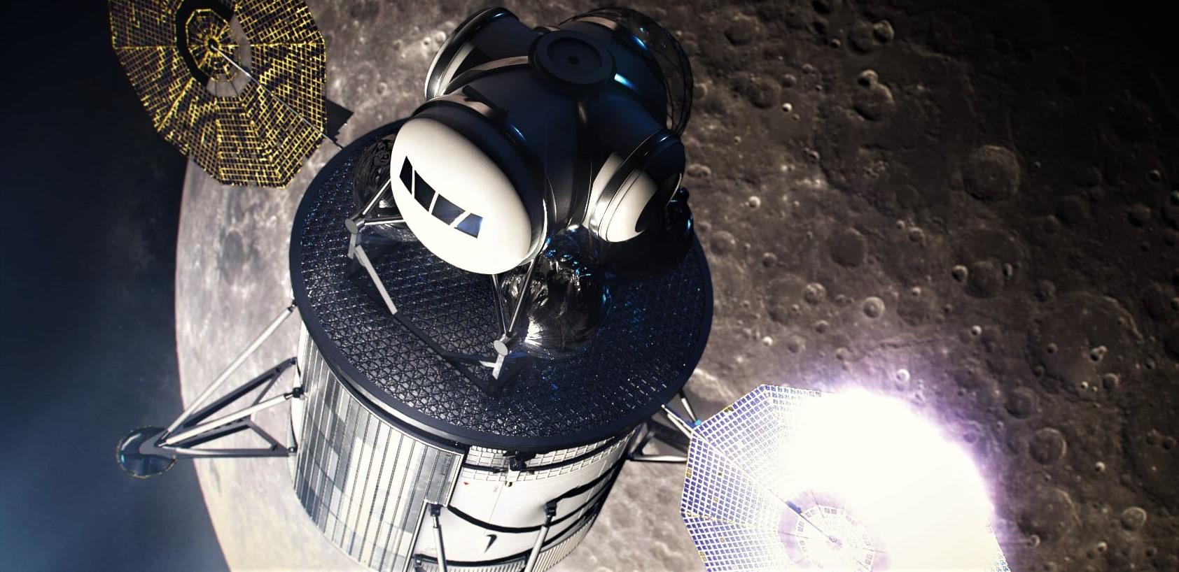 Lunar lander descent ascent stages concept (NASA) 1