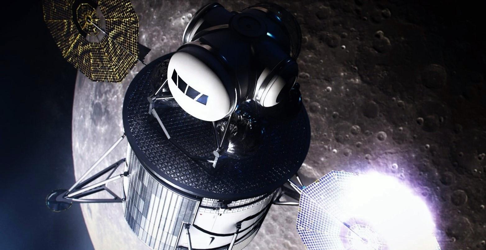 Lunar lander descent ascent stages concept (NASA) 2