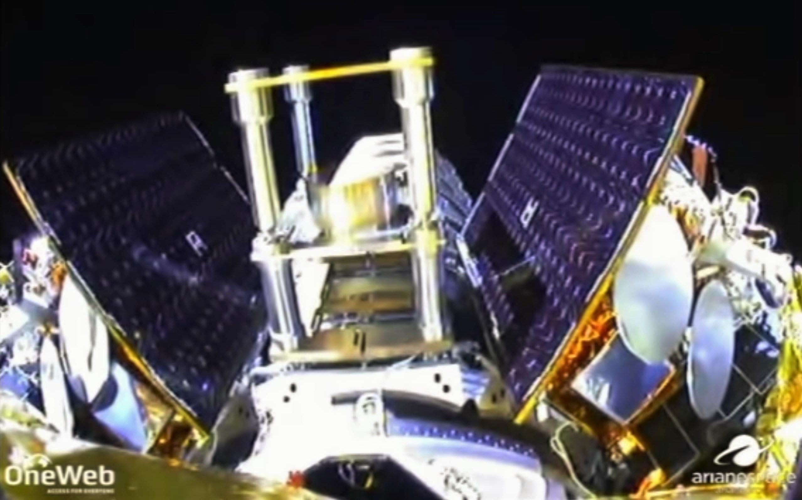 OneWeb satellite deployment Feb 2019 (Arianespace) 2