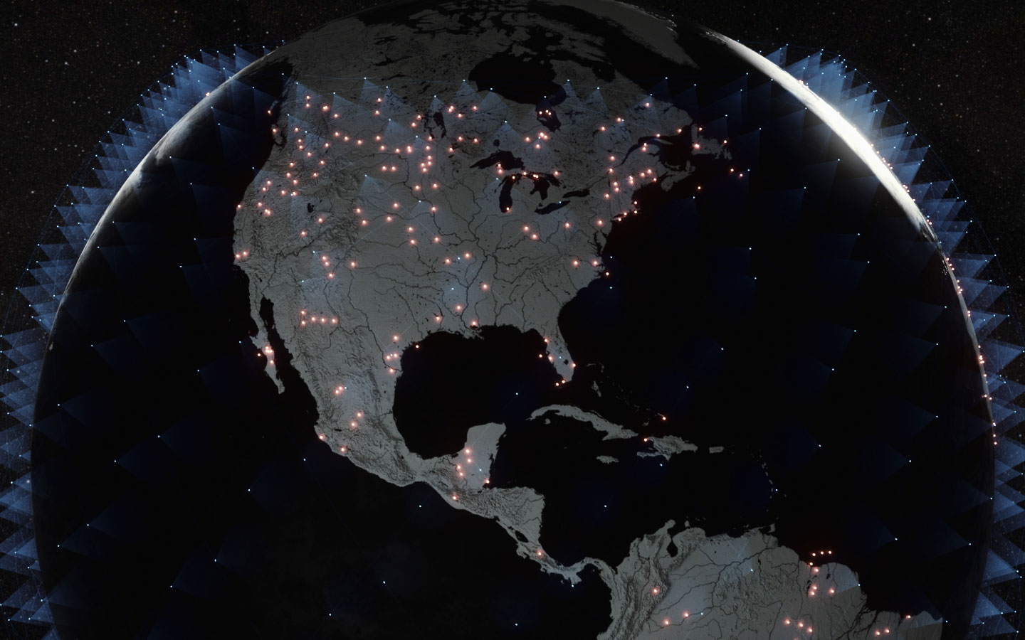 Starlink coverage Earth (SpaceX) 1