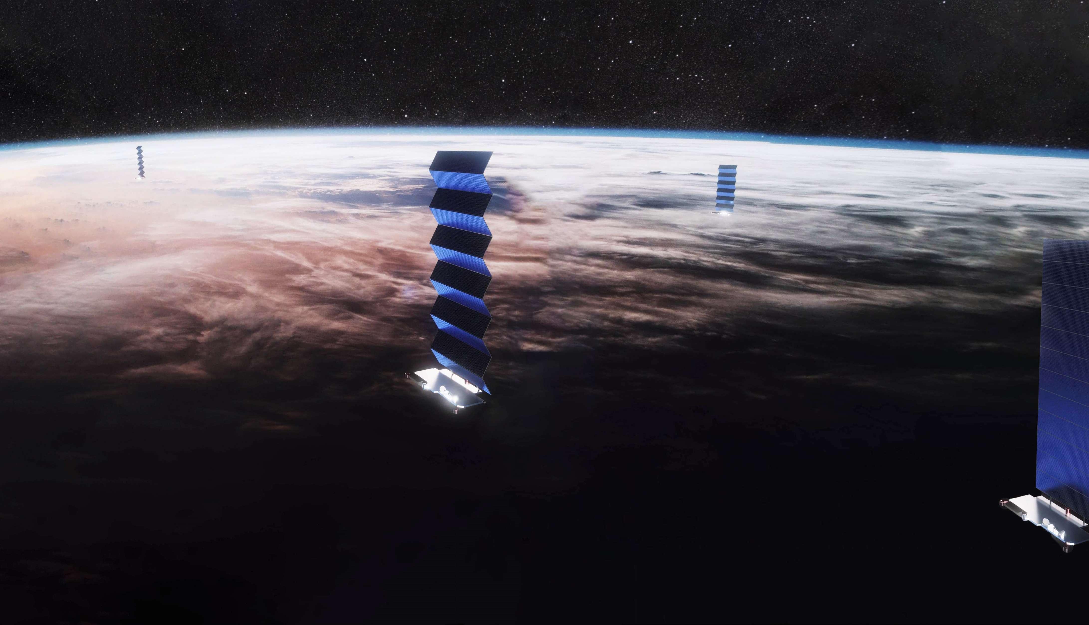 Starlink solar array deploy (SpaceX) pano 3 edit (c)