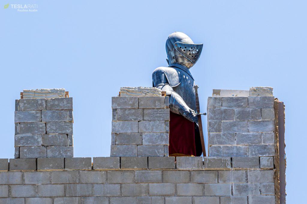 Elon Musk's 'Monty Python' tower knight keeps watch over