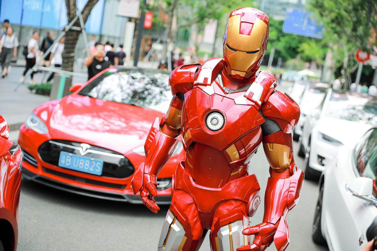 Tesla China Welcomes Superhero Guest Gigafactory 3 S