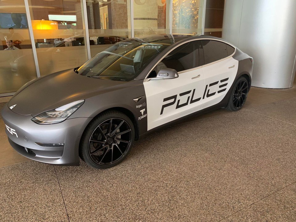 Tesla Model 3 Police Car Makes An Appearance At Law Enforcement Tech