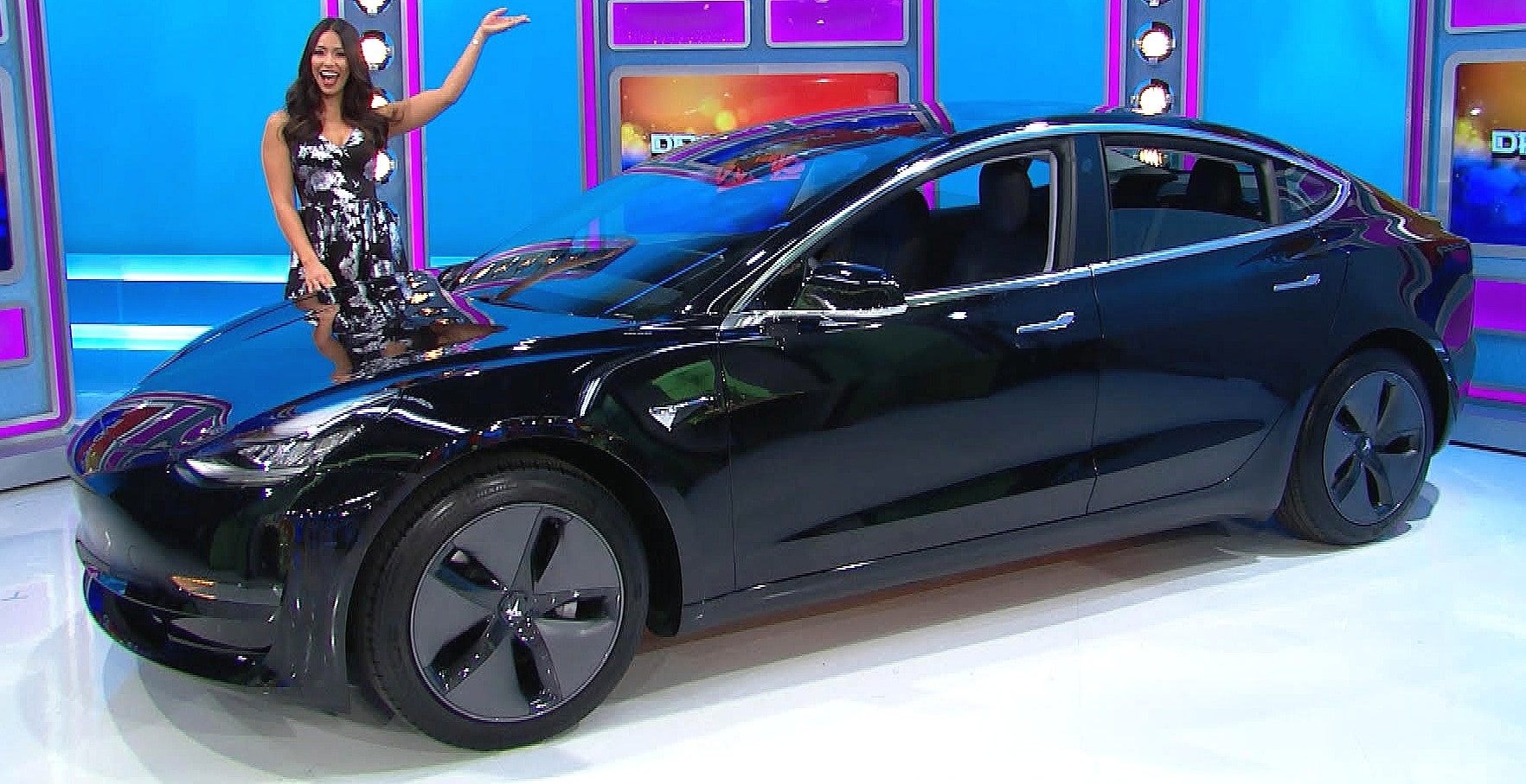 price is right car giveaway tesla model 3 picked for the price is right s iconic 9861