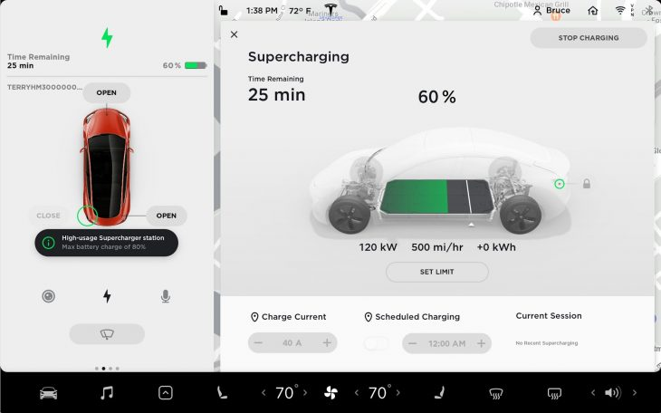 Tesla to cap battery at 80% charge in high-usage