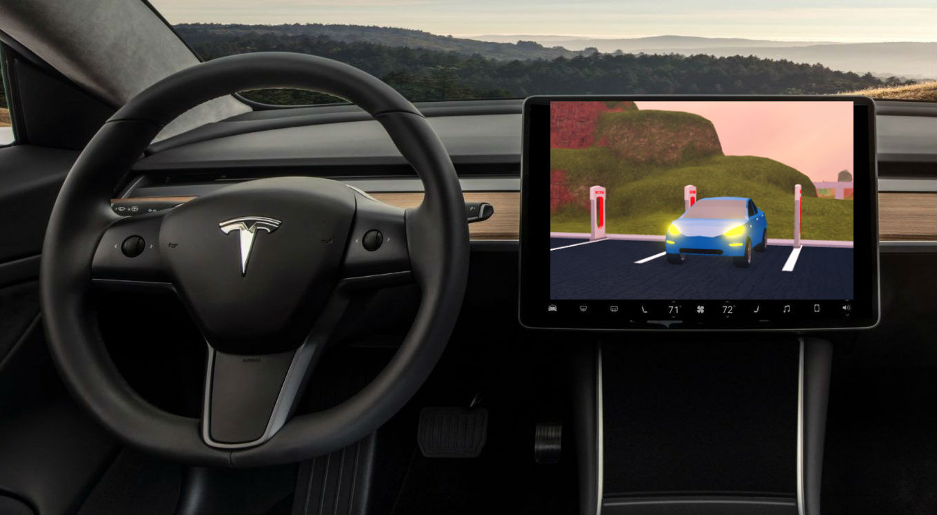 Tesla is blazing a trail for in-car gaming with Unity and Unreal Engine ports