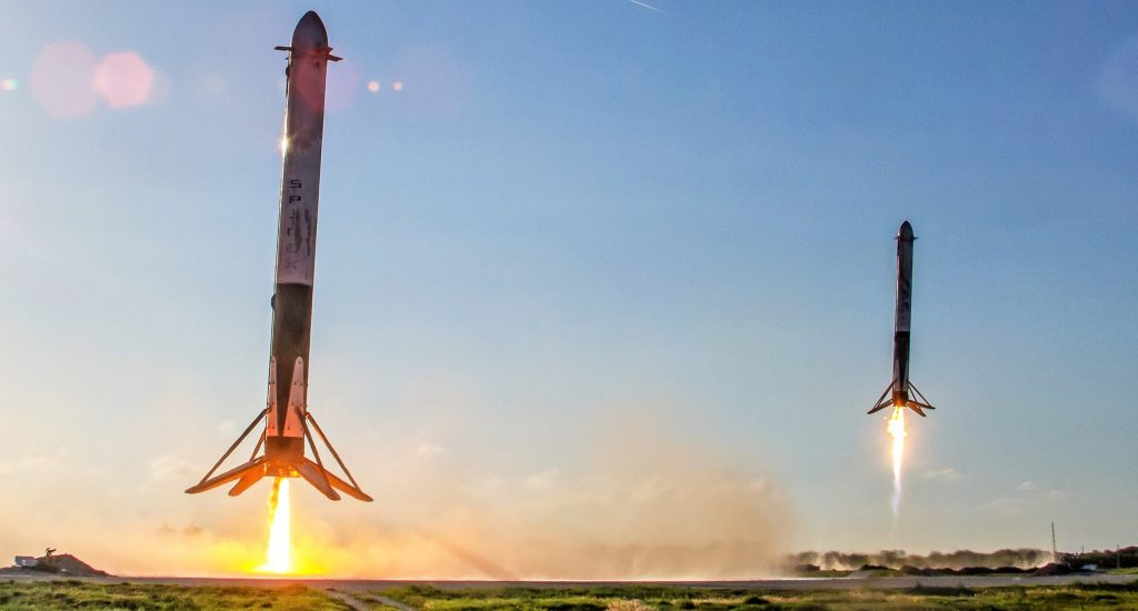 SpaceX set for Falcon Heavy triple booster landing, hottest center core reentry yet