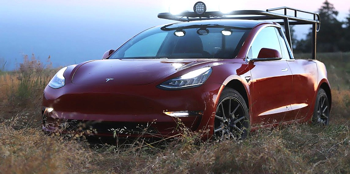 Truck Sound System >> First Tesla pickup truck comes to life from Model 3 conversion