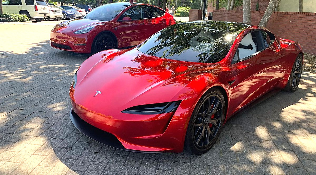 Tesla S Stunning Red Roadster Semi And Model Y Showcased