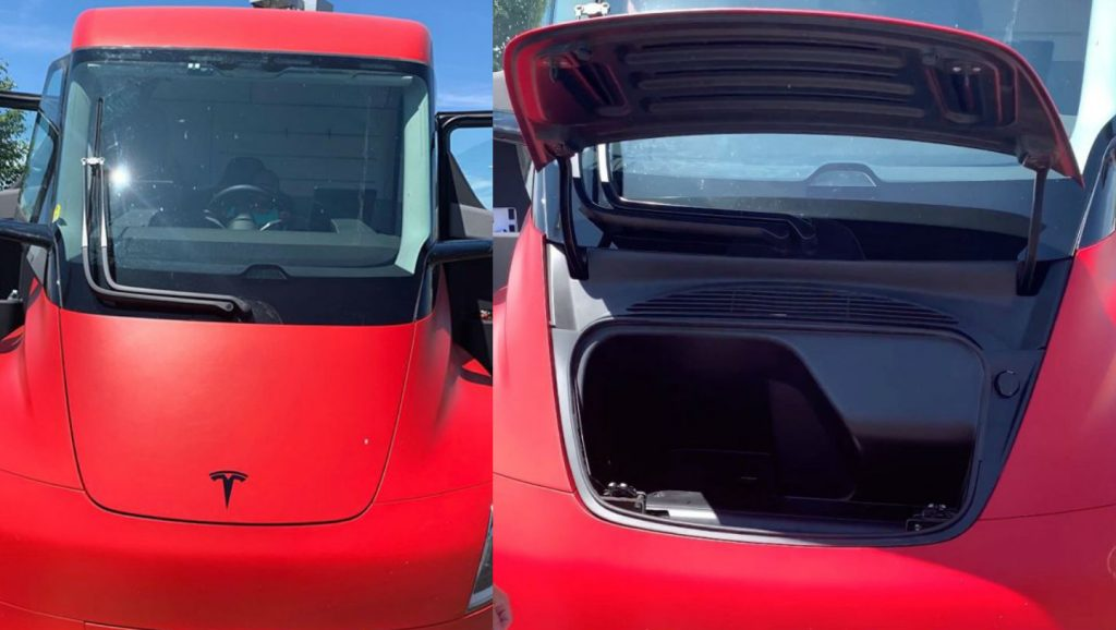 First look at the Tesla Semi's strangely-shaped, generous frunk