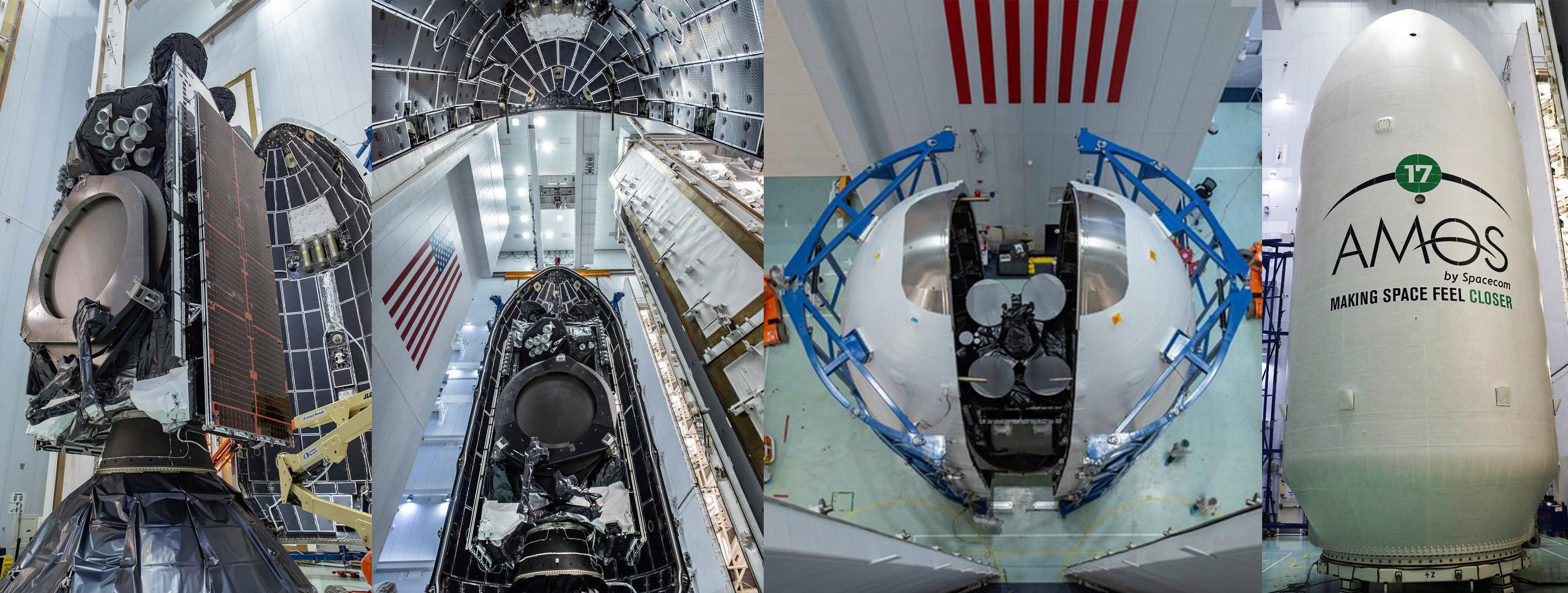 AMOS-17 Falcon 9 encapsulation (SpaceX) mosaic 1