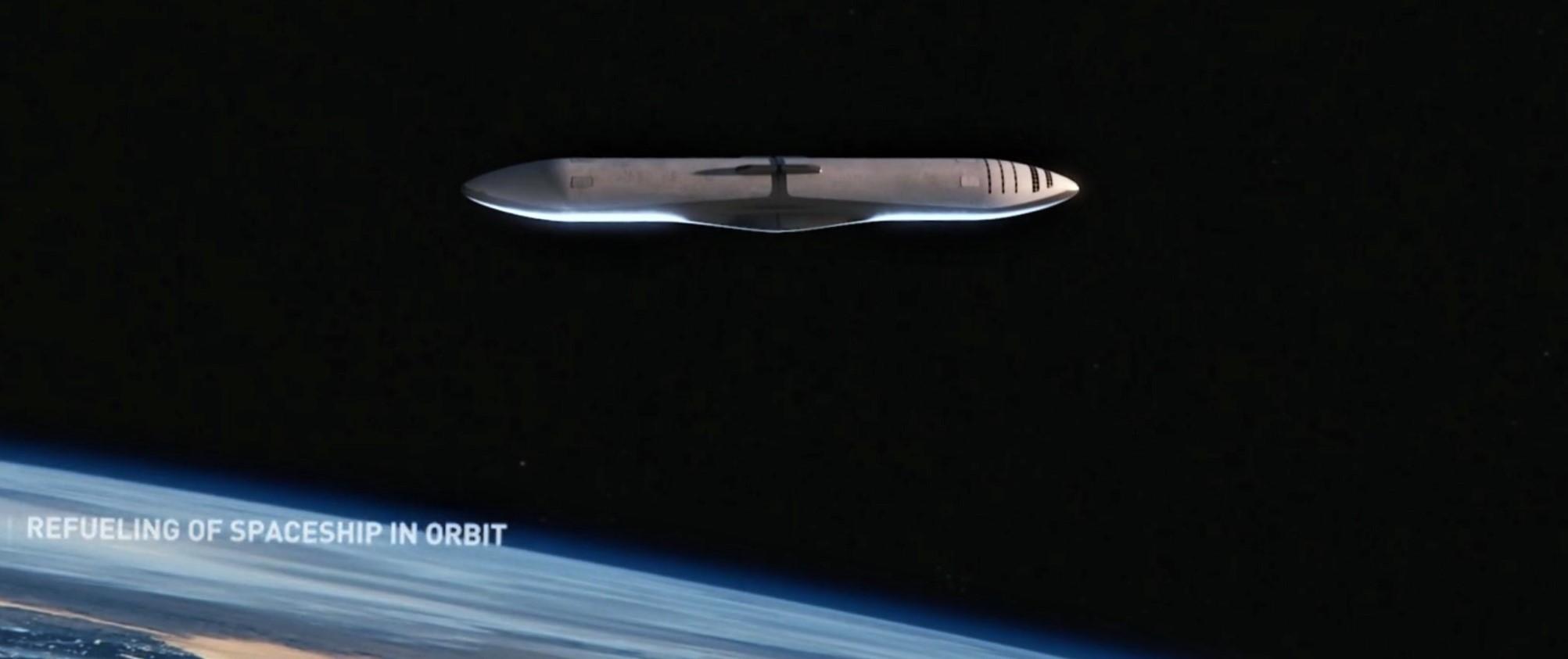 BFR refueling on orbit 2 (SpaceX)