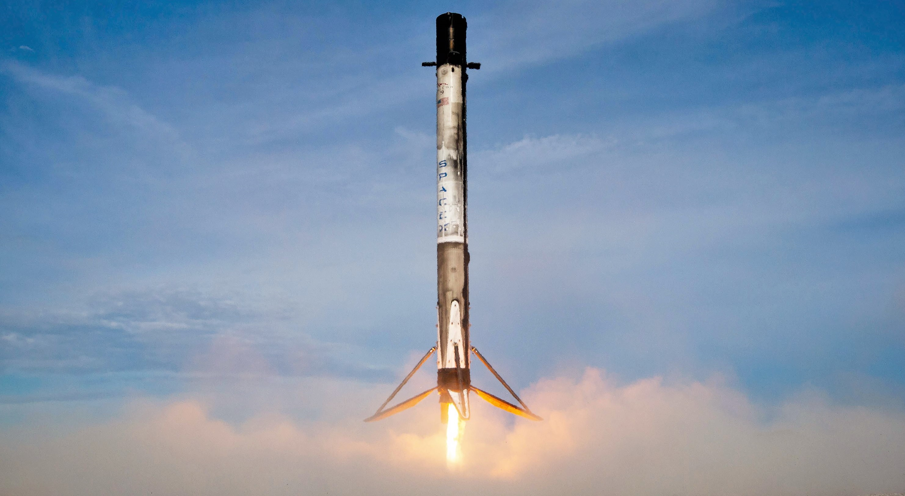 Pictured landing in July 2019 after its second launch, Falcon 9 booster B1056 - now on its fourth launch - is set to break a crucial reusability record. (SpaceX)