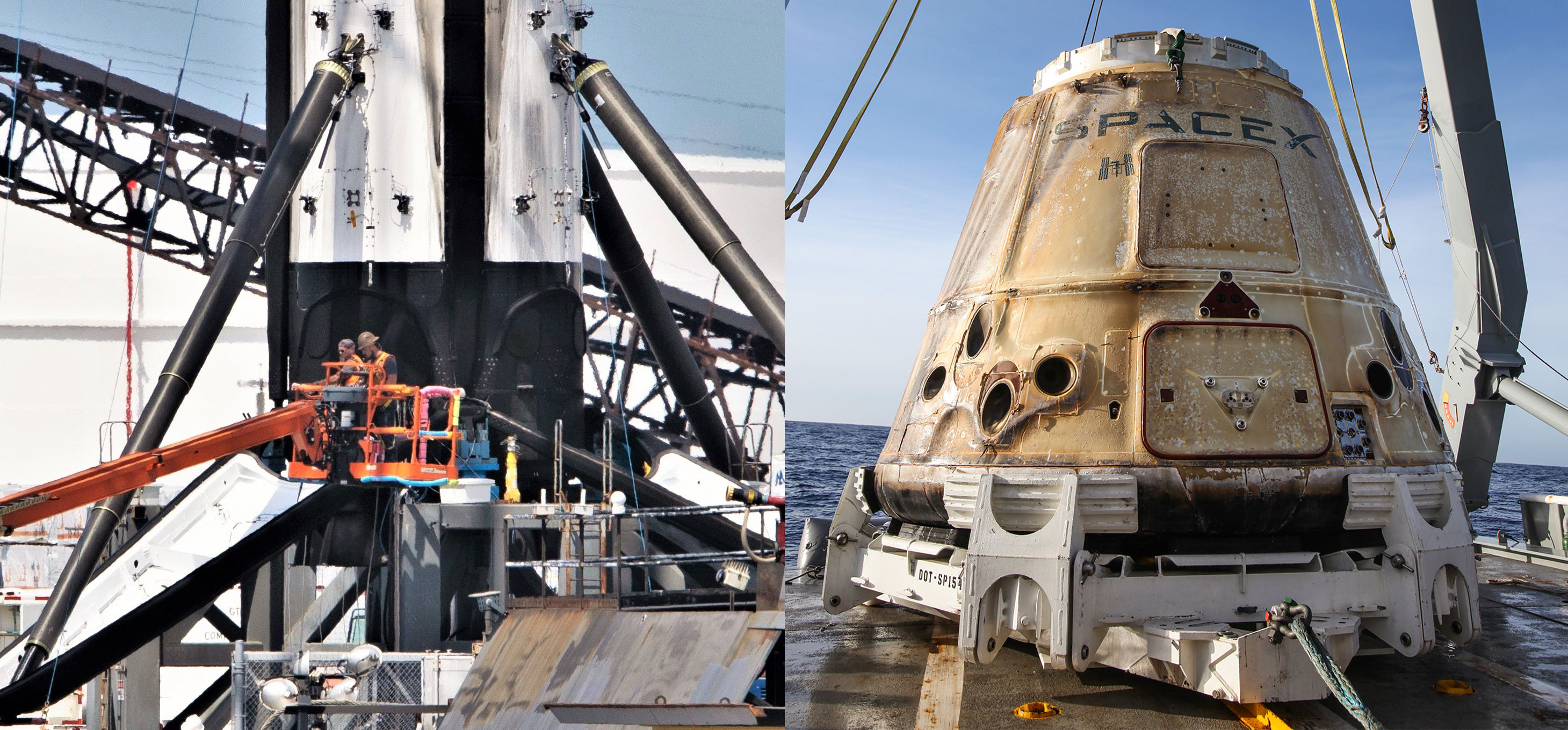 Falcon 9 b1056 leg retraction & Cargo Dragon C108 (Tom Cross & SpaceX)) 1