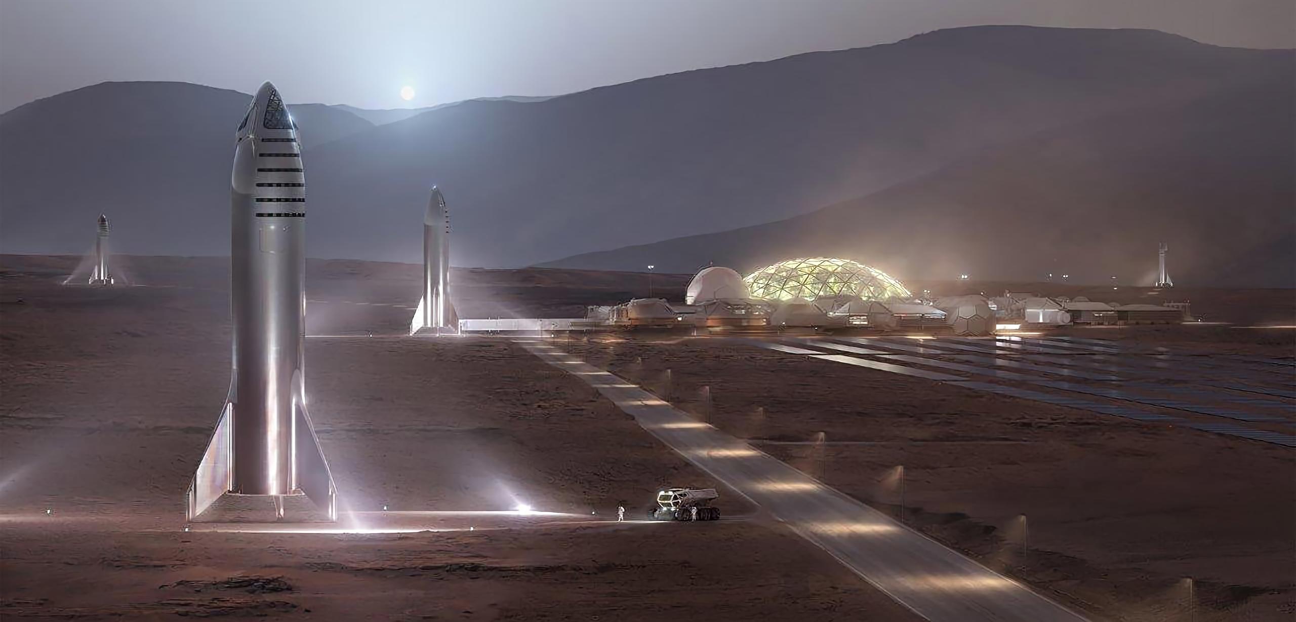 steel Starship Mars render (SpaceX) 2X 1 crop
