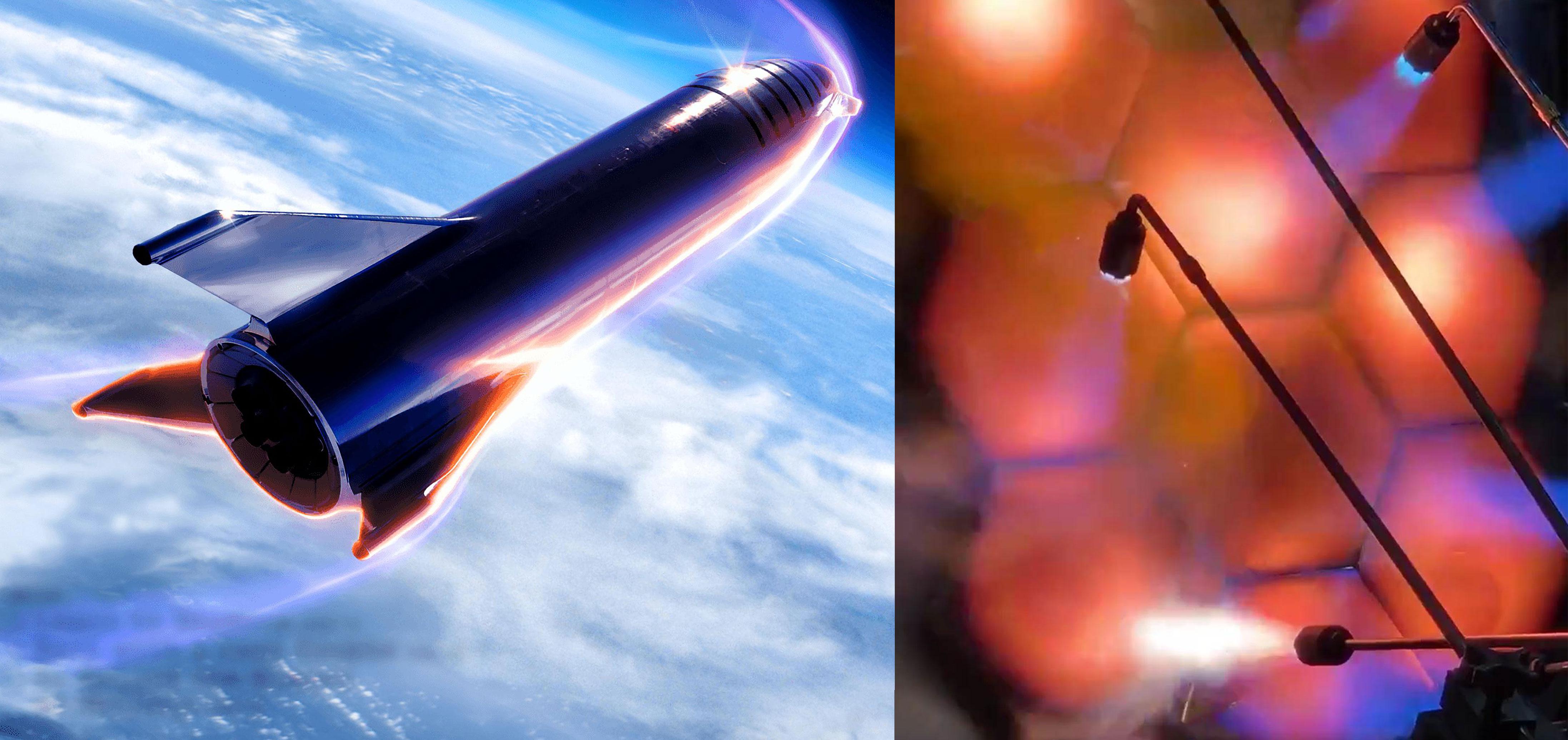 steel Starship reentry & steel heatshield testing (SpaceX) 2