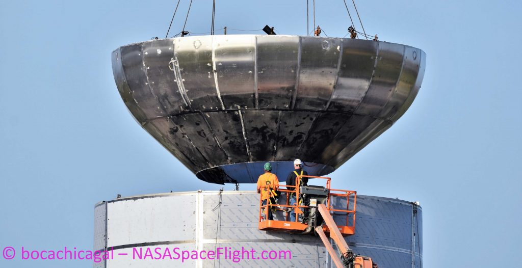 SpaceX preps Texas Starship's second tank dome for installation in