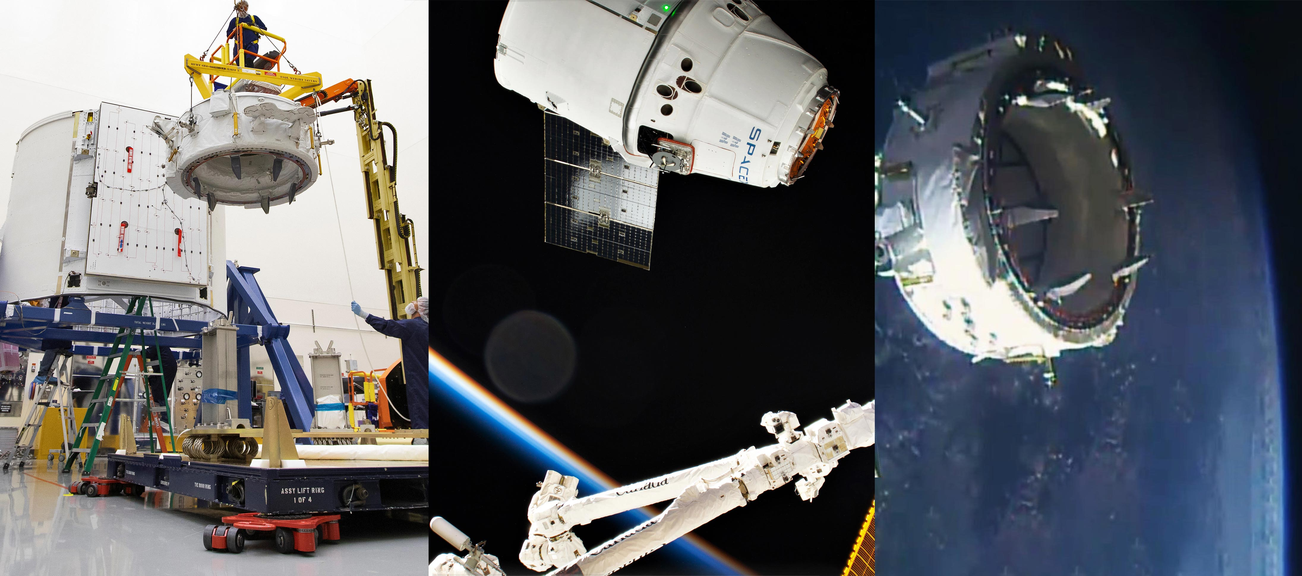 Cargo Dragon C108 CRS-18 ISS IDA-3 install (NASA) 1