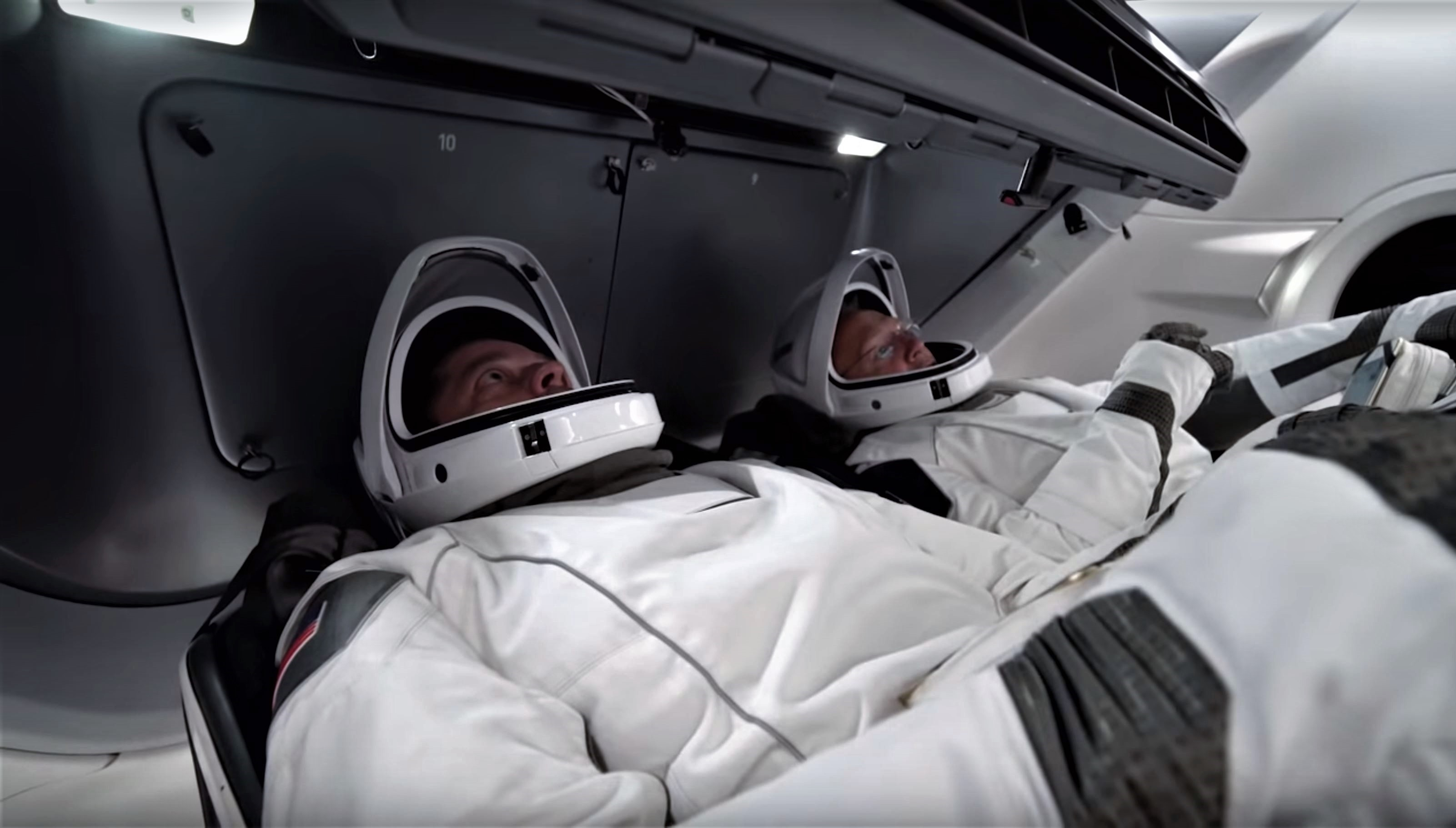 SpaceX's first Crew Dragon NASA astronauts suit up for spacesuit-focused launch rehearsal