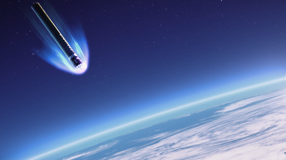 Rocket Lab Electron Re-entry