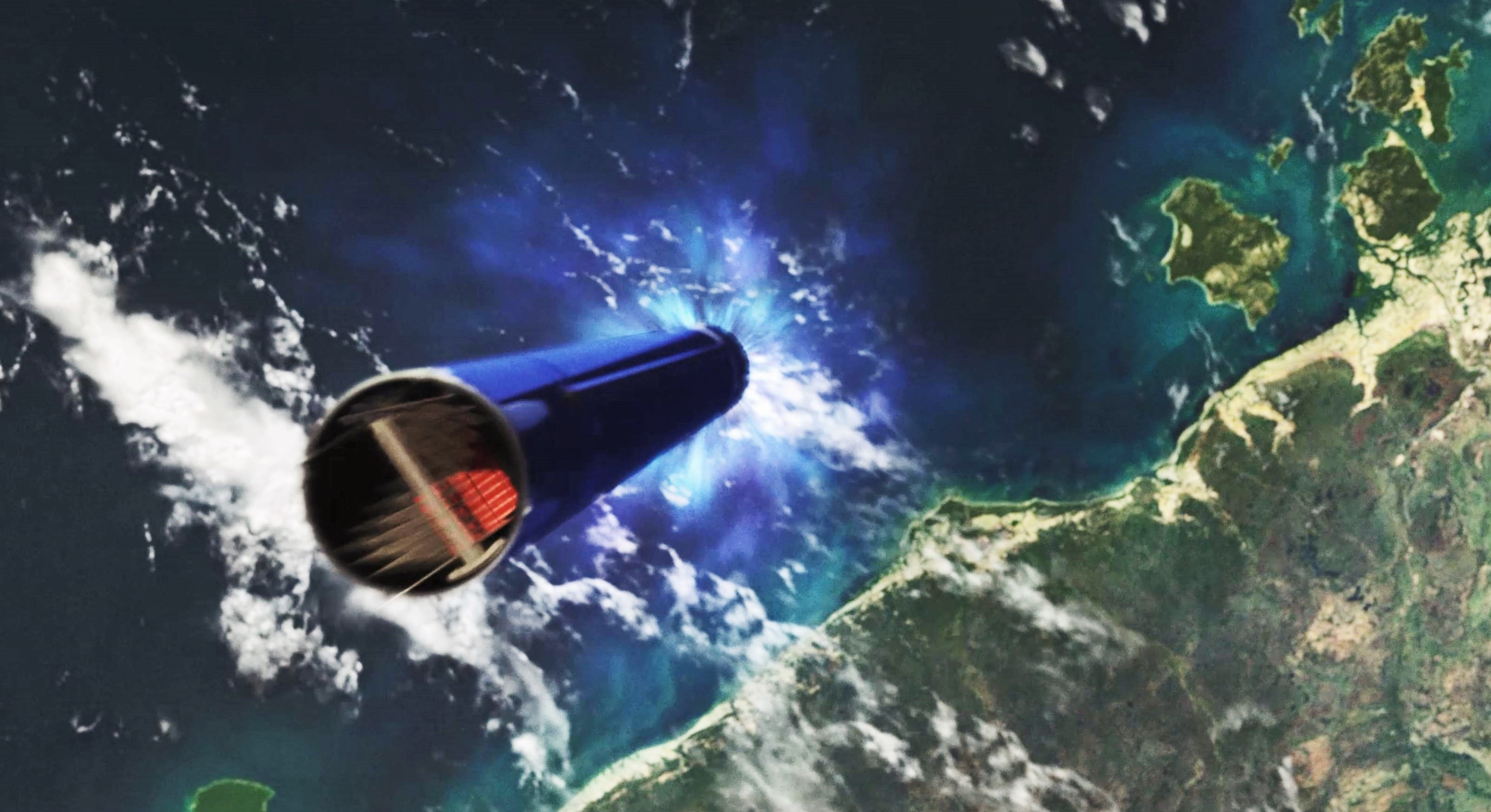 Electron recovery renders (Rocket Lab) reentry 8