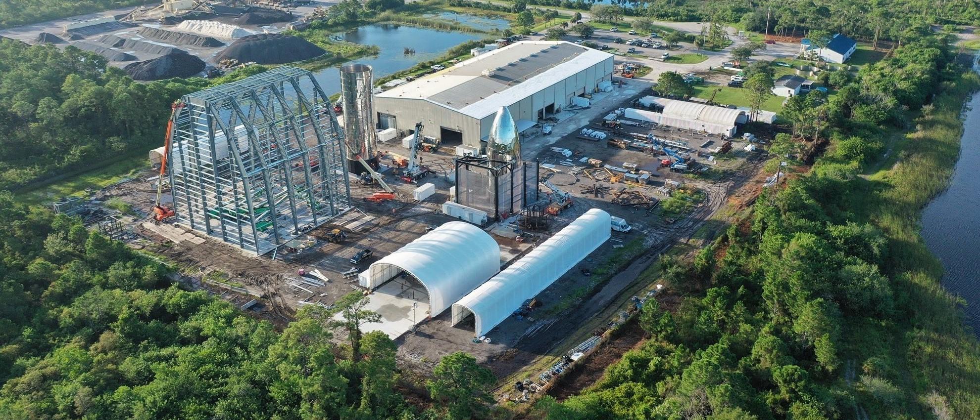 Florida orbital Starship prototype progress 080419 (Seamore Software) 1 crop