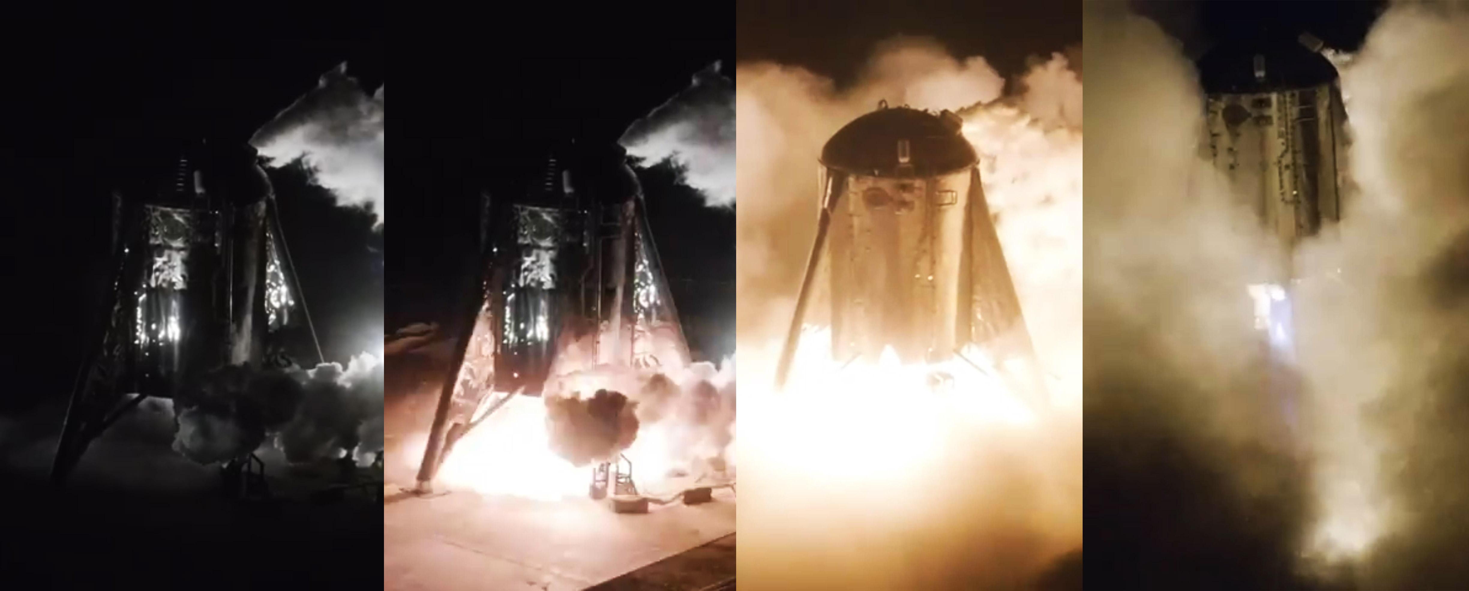 Starhopper first flight 072519 (SpaceX – DearMoon) slow motion mosaic 1