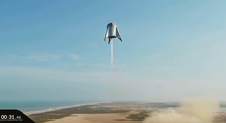 Starhopper flight 2 082719 (SpaceX) liftoff 4