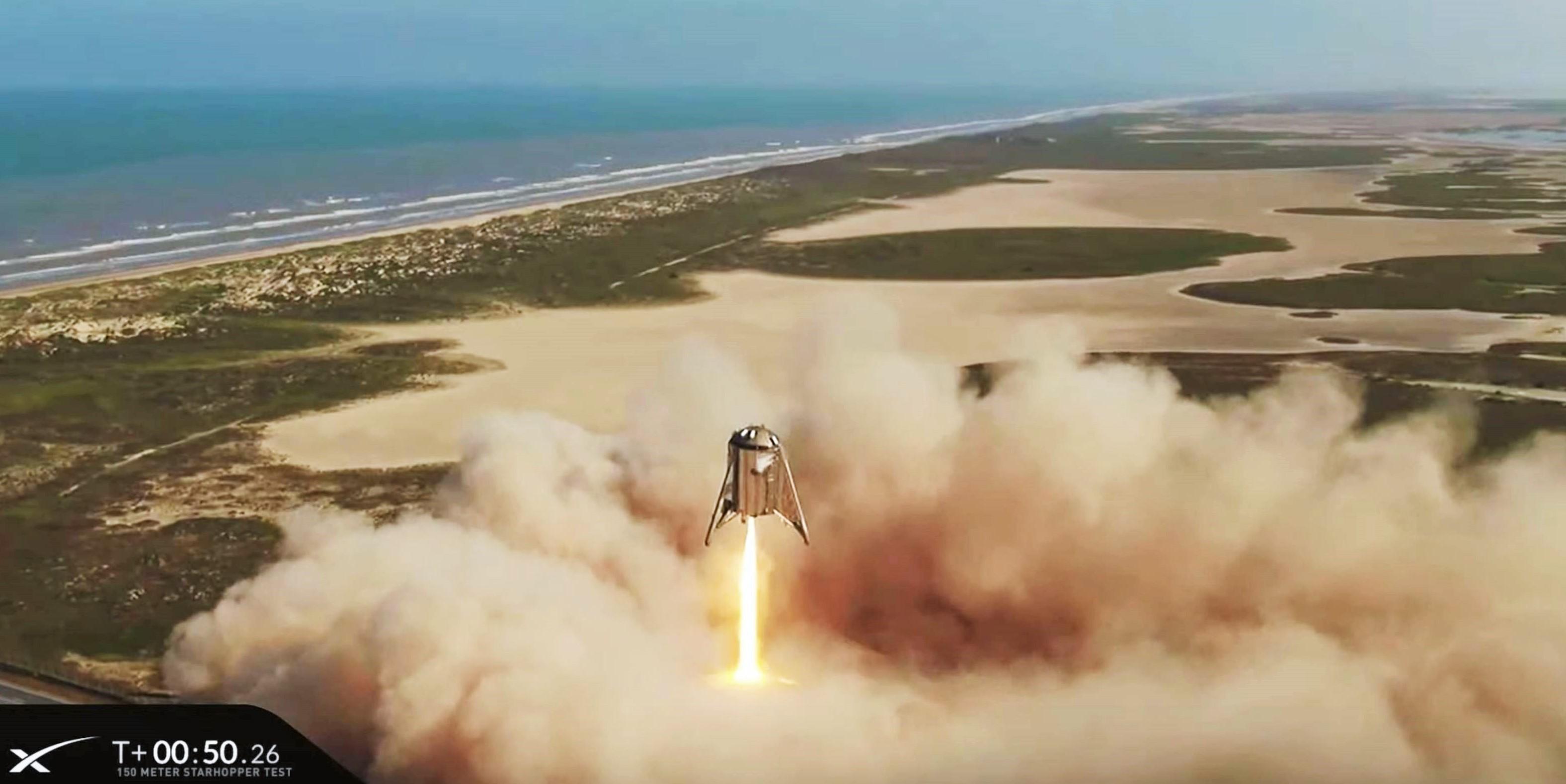 Starhopper flight 2 082719 (SpaceX) liftoff 8