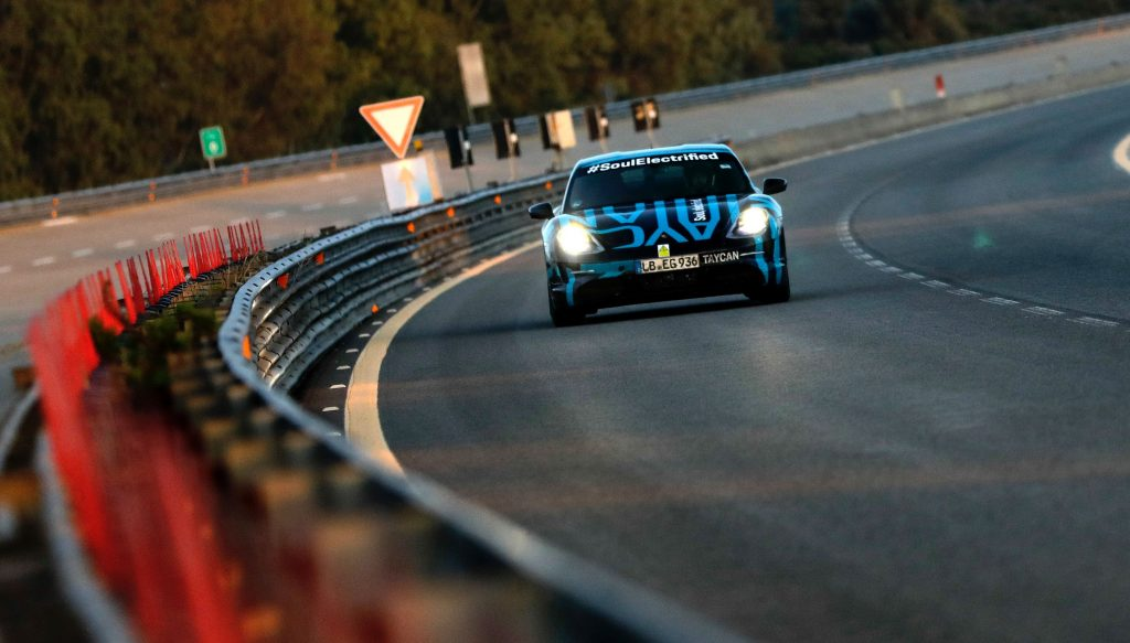 Porsche Taycan gets praise from Tesla's Elon Musk on Nürburgring record