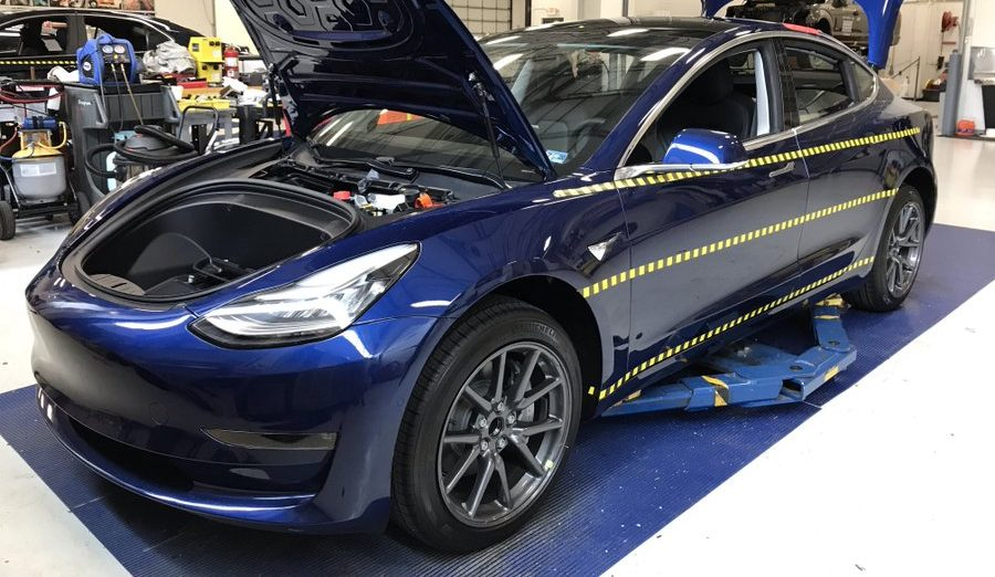 tesla model 3 to undergo crash safety tests with the iihs. Black Bedroom Furniture Sets. Home Design Ideas