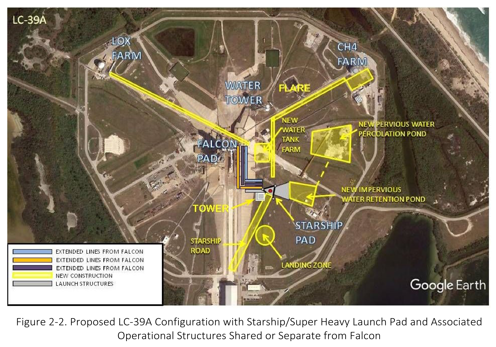 39A Starship Super Heavy launch facilities overview (SpaceX) 1