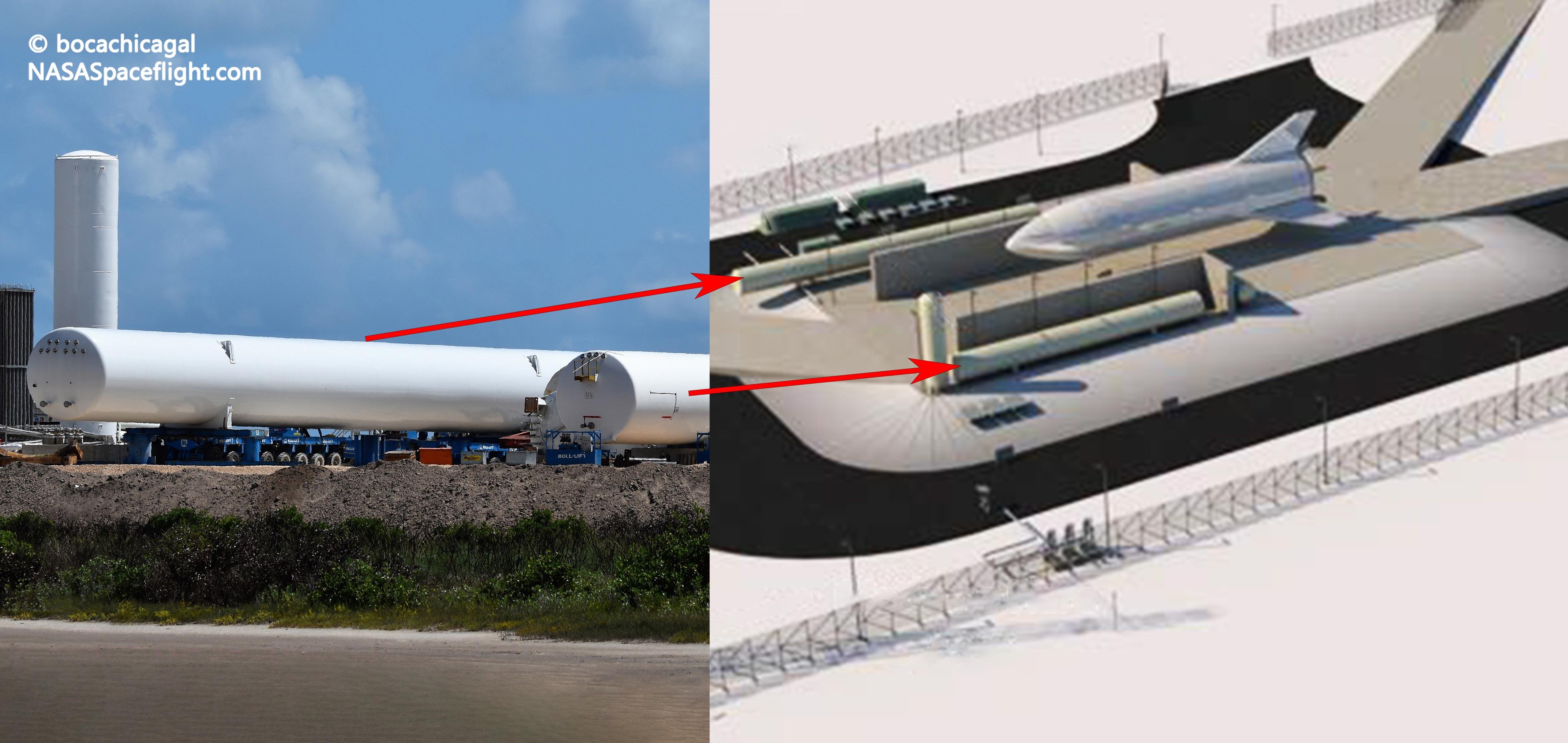 Boca Chica Starship Mk1 092219 (NASASpaceflight – bocachicagal) pad new tanks 1 edit (c)