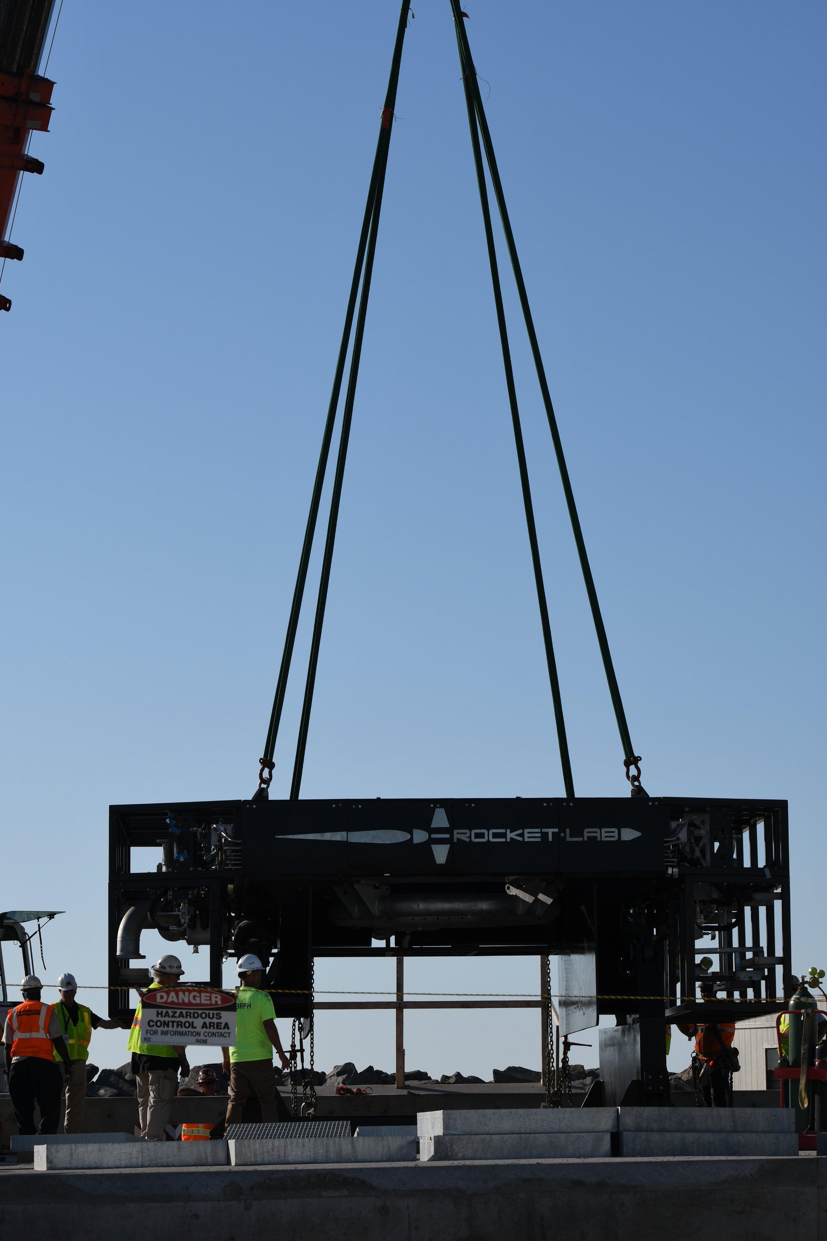 The Rocket Lab launch platform.