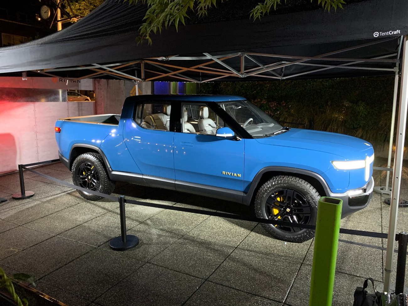 Rivian debuts new blue R1T color at customer preview event