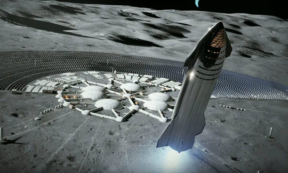 Spacex Envisions Starship Enabled Cities On The Moon And